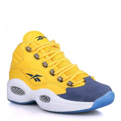 мужские жёлтые, фиолетовые, синие  кроссовки reebok question mid V72127 - цена, описание, фото 1