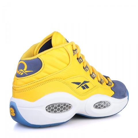 мужские жёлтые, фиолетовые, синие  кроссовки reebok question mid V72127 - цена, описание, фото 2