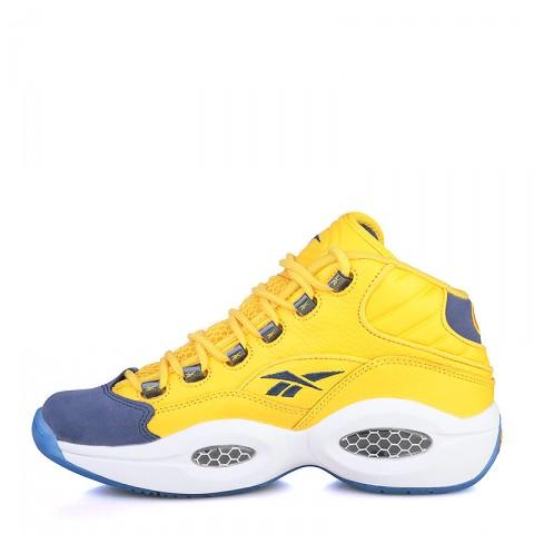 мужские жёлтые, фиолетовые, синие  кроссовки reebok question mid V72127 - цена, описание, фото 3