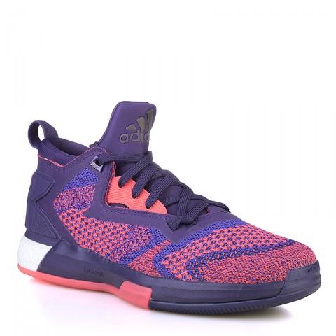 фиолетовые  кроссовки adidas d lillard 2 boost primeknit Q16510 - цена, описание, фото 1