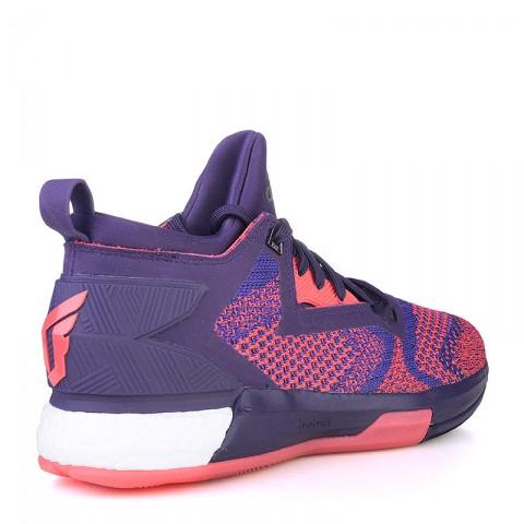 фиолетовые  кроссовки adidas d lillard 2 boost primeknit Q16510 - цена, описание, фото 2