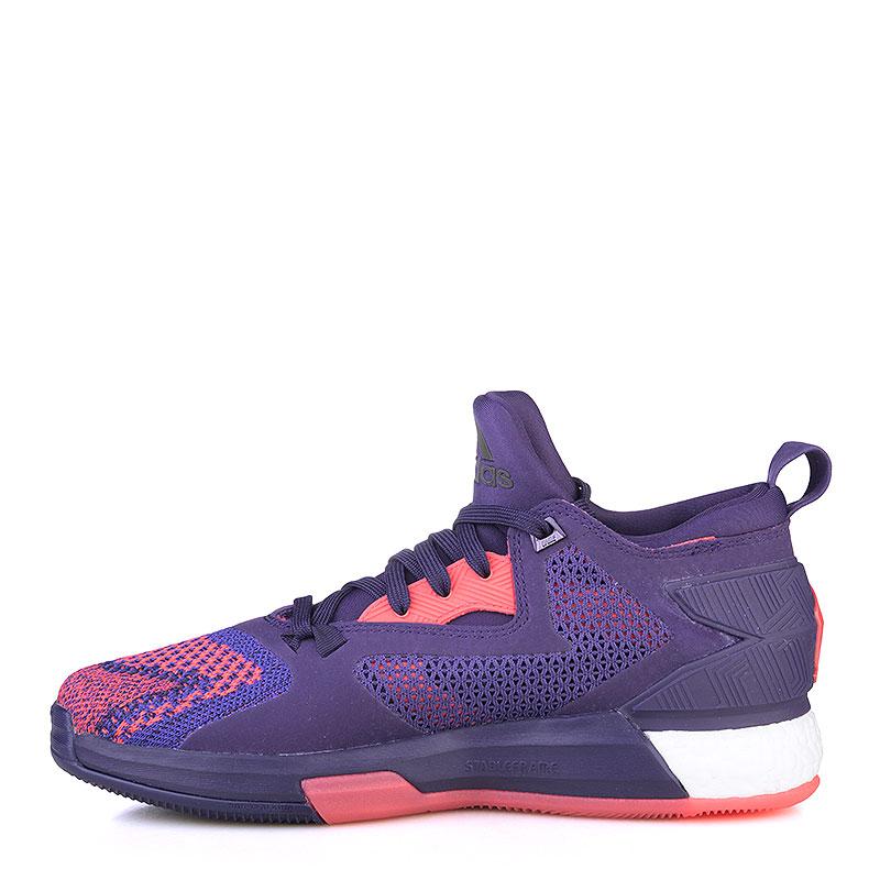 фиолетовые  кроссовки adidas d lillard 2 boost primeknit Q16510 - цена, описание, фото 3