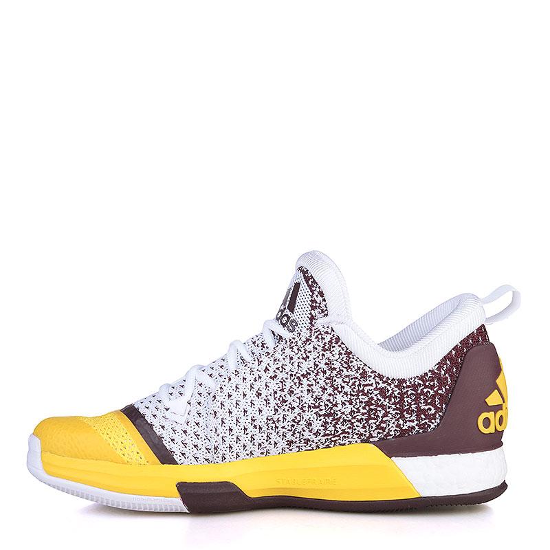 Купить мужские жёлтые, фиолетовые, белые  кроссовки adidas crazylight boost 2.5 low в магазинах Streetball изображение - 3 картинки