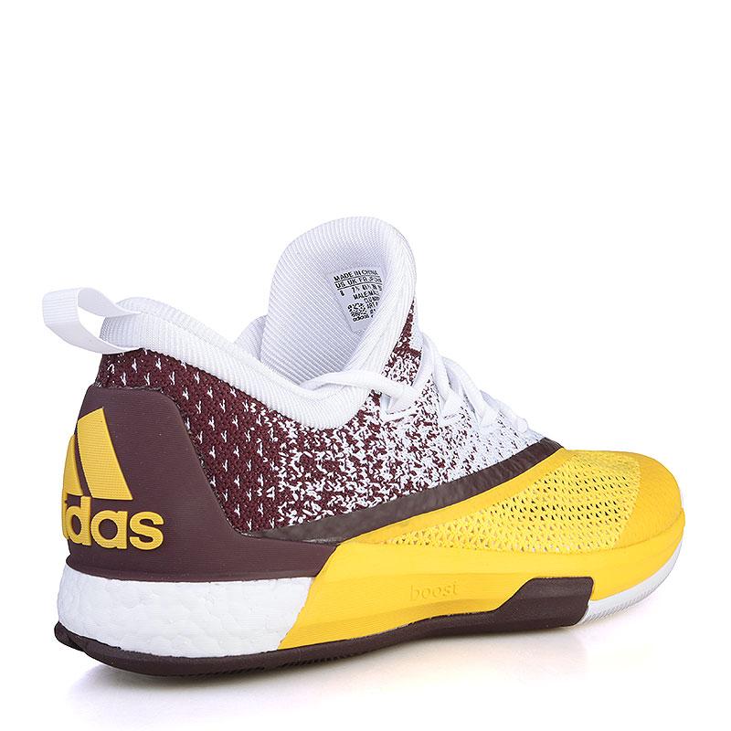 Купить мужские жёлтые, фиолетовые, белые  кроссовки adidas crazylight boost 2.5 low в магазинах Streetball изображение - 2 картинки