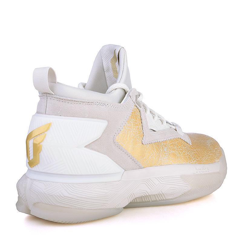 мужские серые, золотые  кроссовки adidas d lillard 2 bhm AQ7959 - цена, описание, фото 2