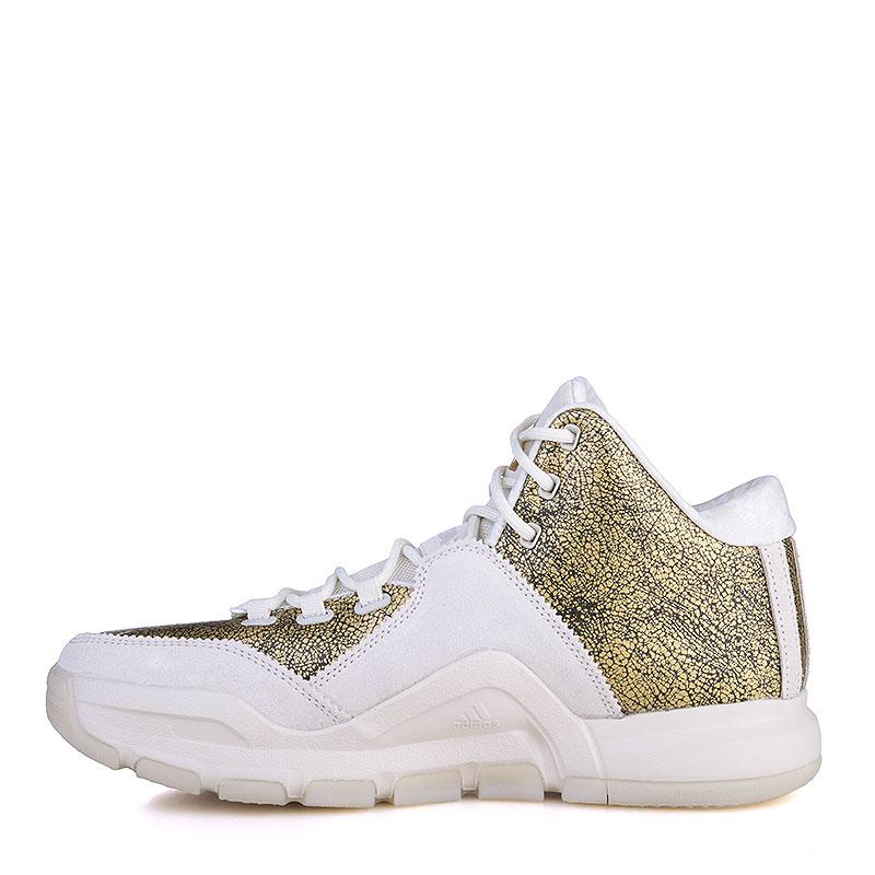 Купить мужские золотые, белые  кроссовки adidas j wall 2 bhm в магазинах Streetball изображение - 3 картинки