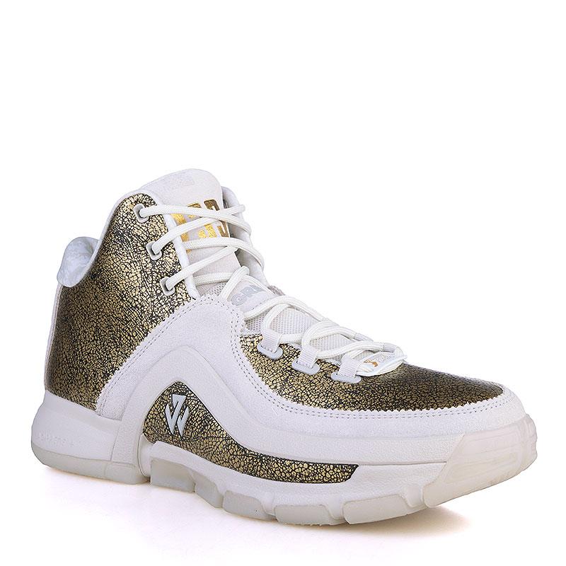 Купить мужские золотые, белые  кроссовки adidas j wall 2 bhm в магазинах Streetball изображение - 1 картинки