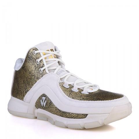 Купить мужские золотые, белые  кроссовки adidas j wall 2 bhm в магазинах Streetball - изображение 1 картинки