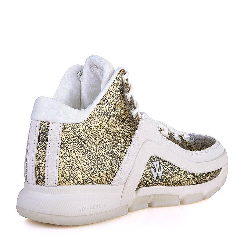 Купить мужские золотые, белые  кроссовки adidas j wall 2 bhm в магазинах Streetball изображение - 2 картинки