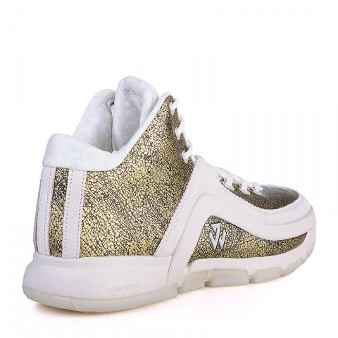 Купить мужские золотые, белые  кроссовки adidas j wall 2 bhm в магазинах Streetball - изображение 2 картинки