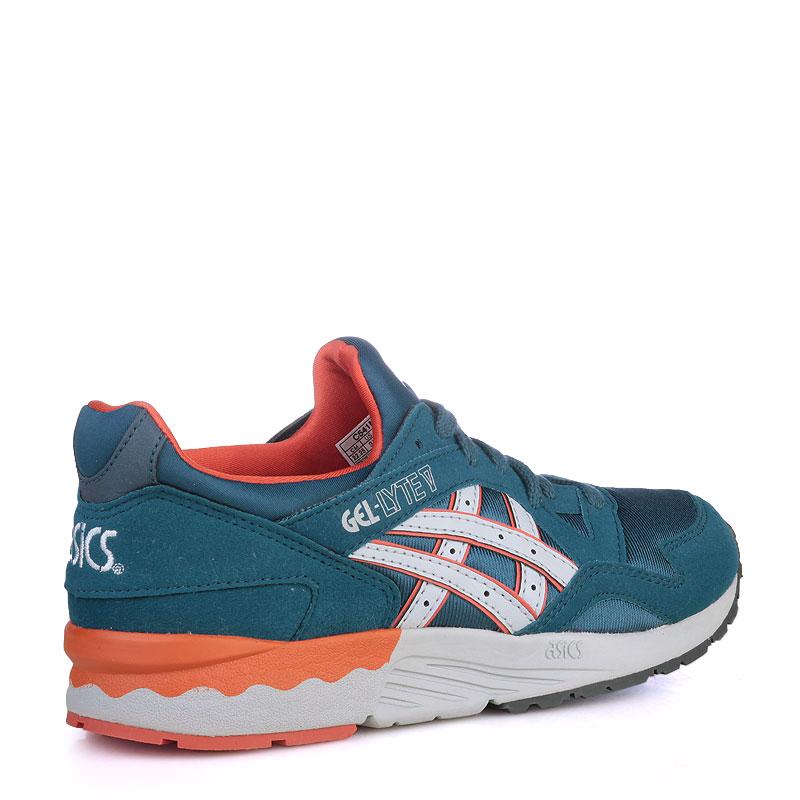 детские синие  кроссовки asics tiger gel-lyte v C541N-4510 - цена, описание, фото 2