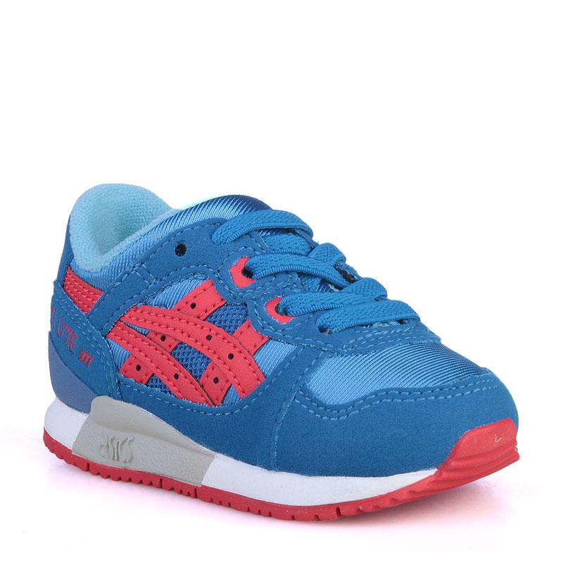 детские синие  кроссовки asics tiger gel-lyte iii C536N-4223 - цена, описание, фото 1