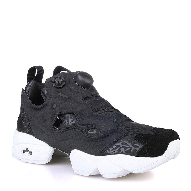 женские черные, белые  кроссовки reebok instapump fury gallery V70812 - цена, описание, фото 1