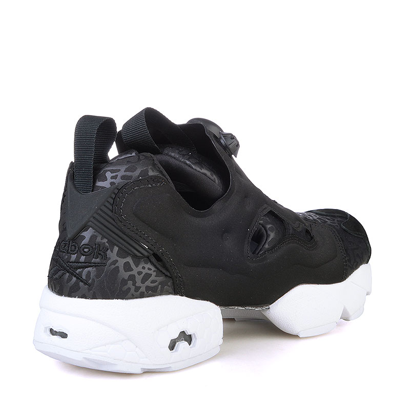 женские черные, белые  кроссовки reebok instapump fury gallery V70812 - цена, описание, фото 2