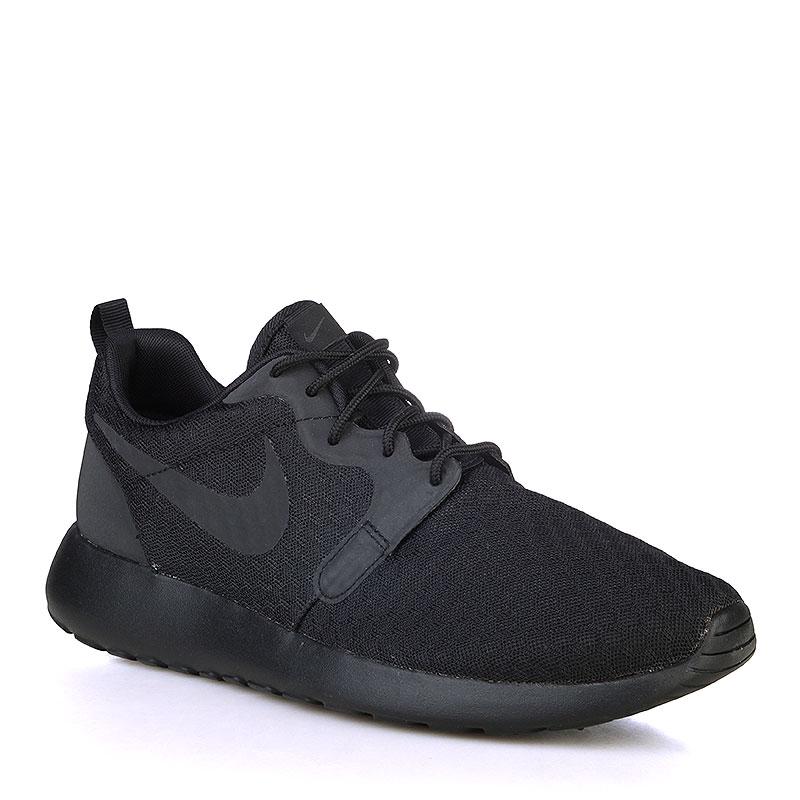 мужские черные  кроссовки nike nike roshe one hyp 636220-005 - цена, описание, фото 1