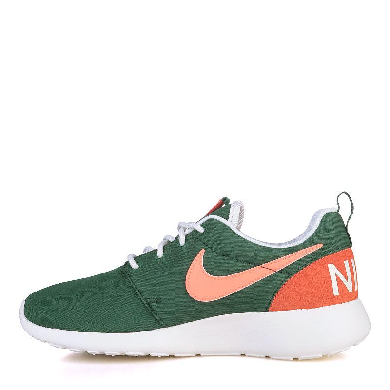 Купить женские зелёные, оранжевые, белые  кроссовки nike wmns roshe one retro в магазинах Streetball изображение - 3 картинки