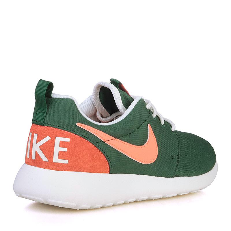 Купить женские зелёные, оранжевые, белые  кроссовки nike wmns roshe one retro в магазинах Streetball изображение - 2 картинки