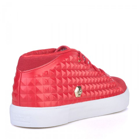 мужские красные, белые  кроссовки nike lebron xiii lifestyle 819859-600 - цена, описание, фото 2