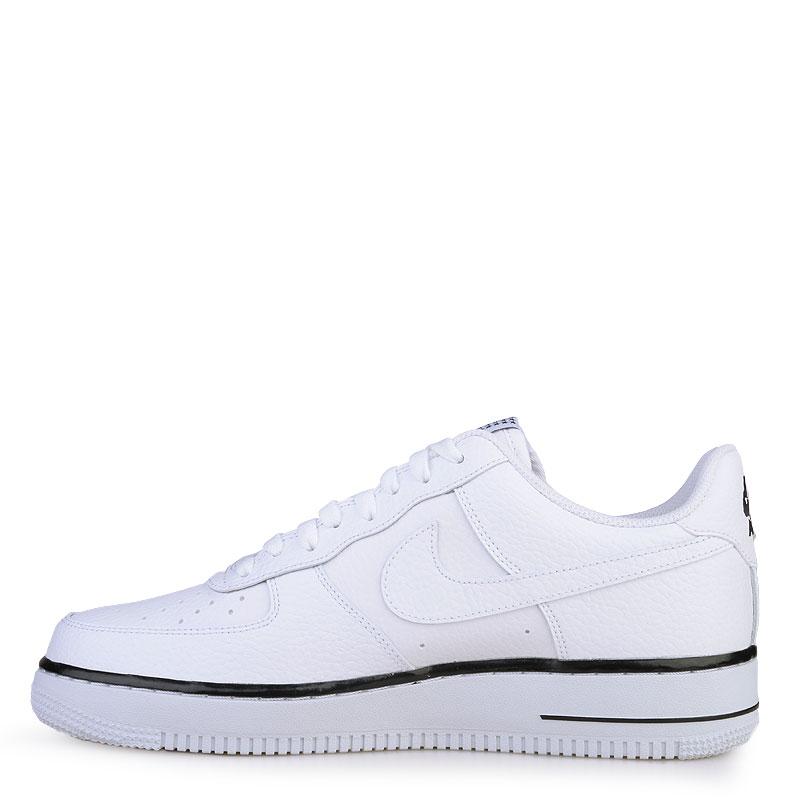 Купить мужские белые  кроссовки nike air force 1 в магазинах Streetball изображение - 3 картинки