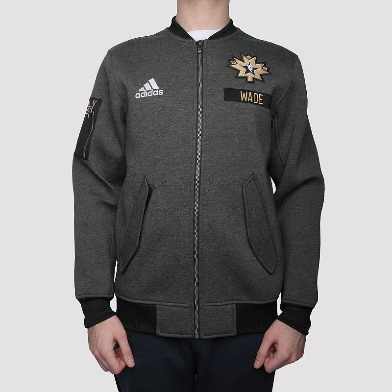 Купить мужскую серую  куртку adidas as le plyr jkt в магазинах Streetball изображение - 3 картинки