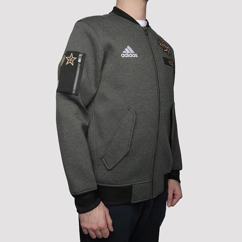 Купить мужскую серую  куртку adidas as le plyr jkt в магазинах Streetball изображение - 4 картинки