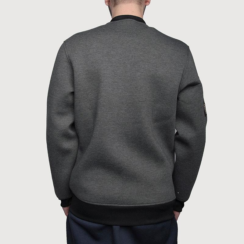Купить мужскую серую  куртку adidas as le plyr jkt в магазинах Streetball изображение - 5 картинки