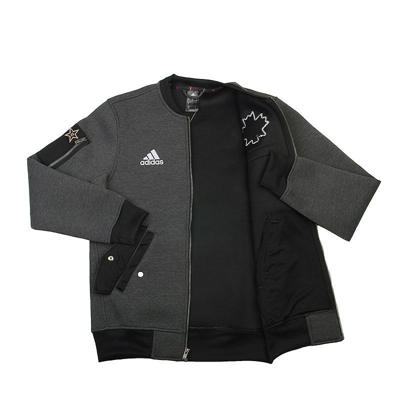 Купить мужскую серую  куртку adidas as le plyr jkt в магазинах Streetball изображение - 2 картинки
