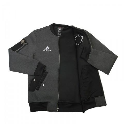 Купить мужскую серую  куртку adidas as le plyr jkt в магазинах Streetball - изображение 2 картинки