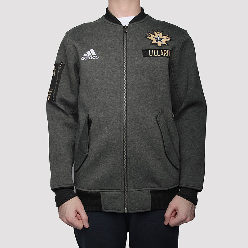 мужскую серую  куртку adidas as le plyr jkt AC2563 - цена, описание, фото 3