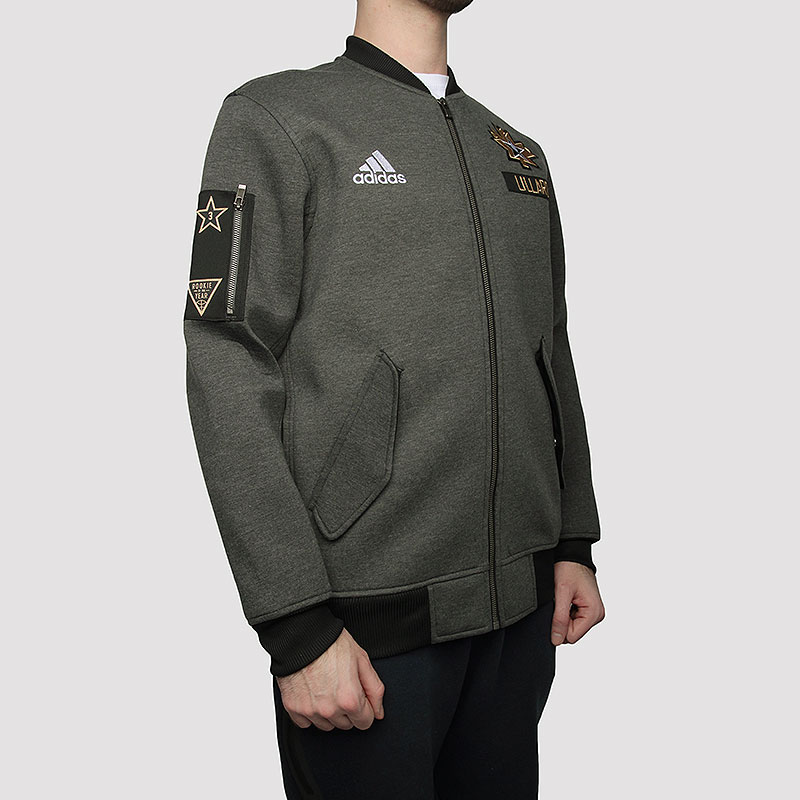 мужскую серую  куртку adidas as le plyr jkt AC2563 - цена, описание, фото 4