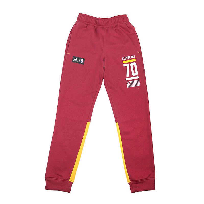 мужские бордовые, жёлтые  брюки adidas fnwr pant AJ1843 - цена, описание, фото 1