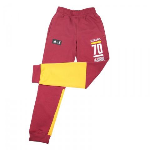 мужские бордовые, жёлтые  брюки adidas fnwr pant AJ1843 - цена, описание, фото 2