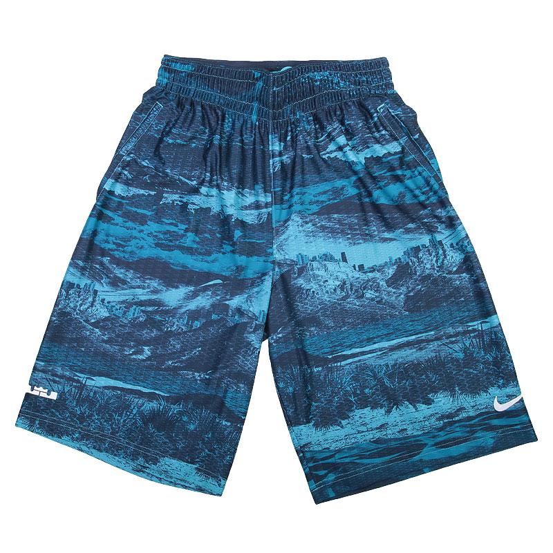 мужские голубые,синие  шорты nike lebron ultimate elite 686164-418 - цена, описание, фото 1