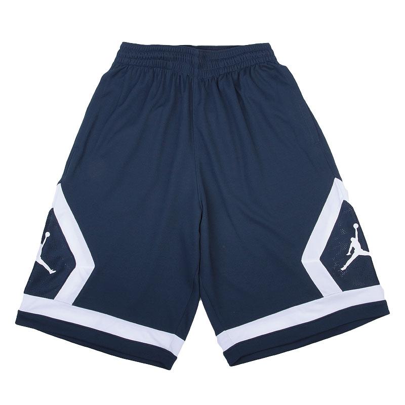 Купить мужские синие   шорты jordan flight diamond в магазинах Streetball изображение - 1 картинки