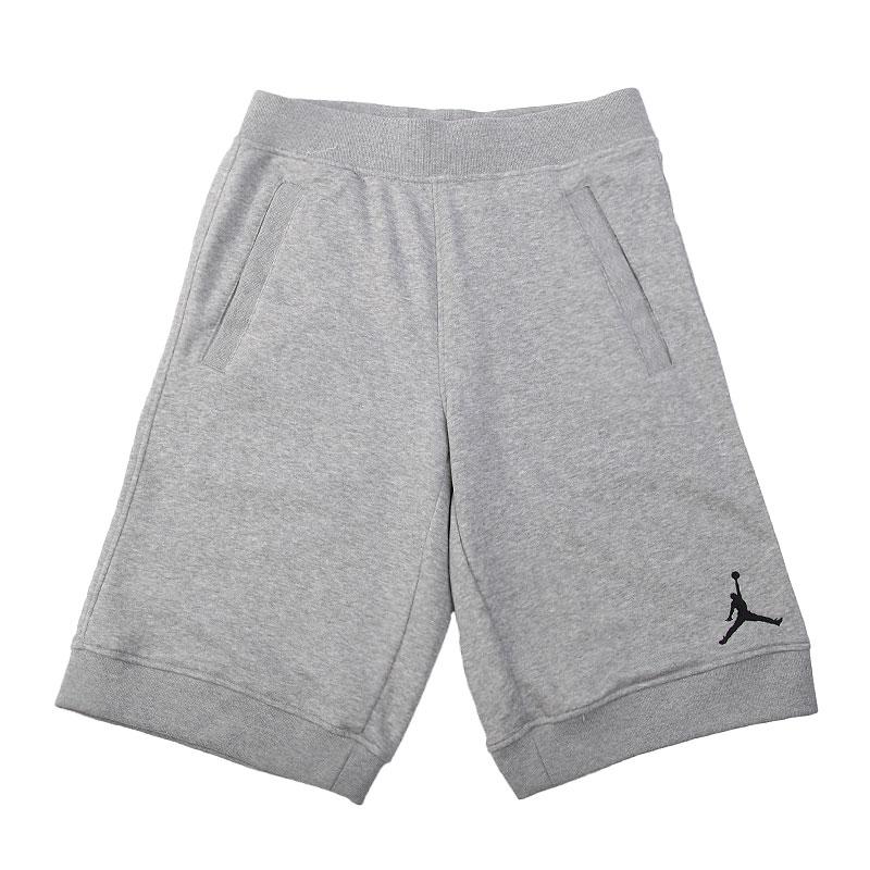 Купить мужские серые  шорты jordan fleece short в магазинах Streetball изображение - 1 картинки