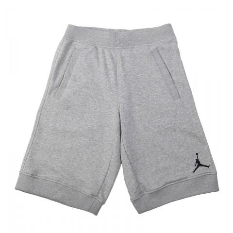 Купить мужские серые  шорты jordan fleece short в магазинах Streetball - изображение 1 картинки