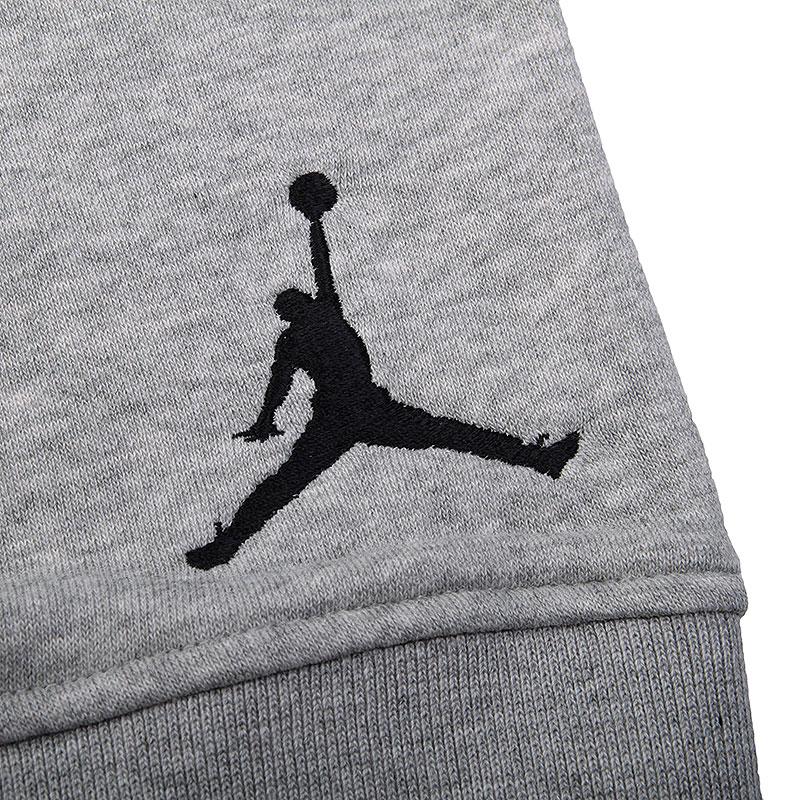 Купить мужские серые  шорты jordan fleece short в магазинах Streetball изображение - 3 картинки