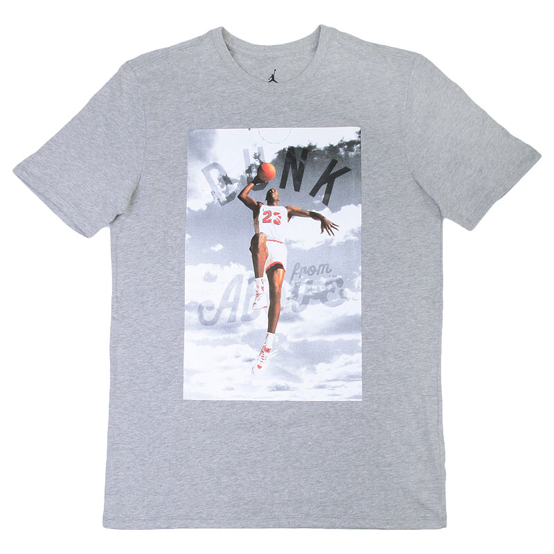 Купить мужскую серую  футболка jordan dunk from above в магазинах Streetball изображение - 1 картинки