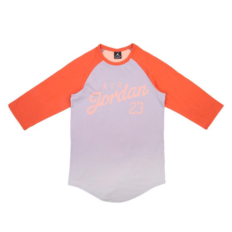 мужскую оранжевую  футболка jordan 3/4 raglan 724492-013 - цена, описание, фото 1