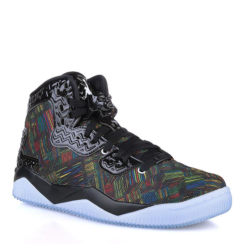 мужские черные, голубые  кроссовки air jordan spike forty bhm 836750-045 - цена, описание, фото 1