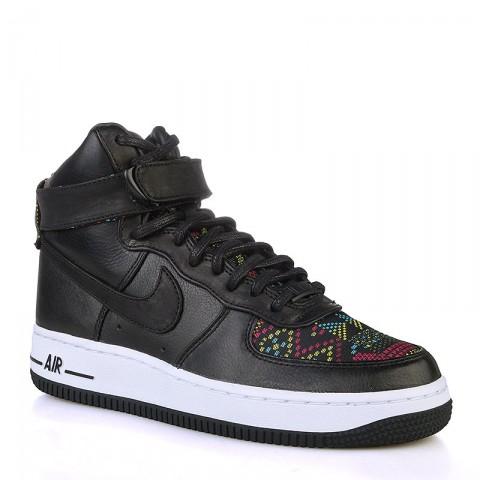 женские черные, белые  кроссовки  nike wmns air force 1 hi bhm 836228-001 - цена, описание, фото 1