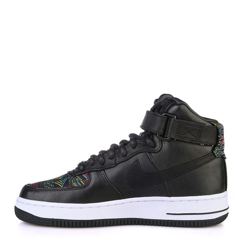 женские черные, белые  кроссовки  nike wmns air force 1 hi bhm 836228-001 - цена, описание, фото 3