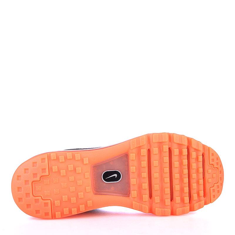 Купить мужские серые, оранжевые  кроссовки nike flyknit max в магазинах Streetball изображение - 4 картинки