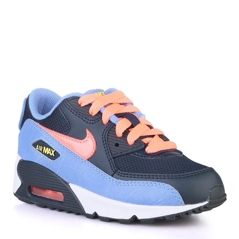 Кроссовки Nike Sportswear Air Max 90 MeshКроссовки lifestyle<br>кожа,текстиль,резина<br><br>Цвет: Голубой<br>Размеры US: 1Y<br>Пол: Детский