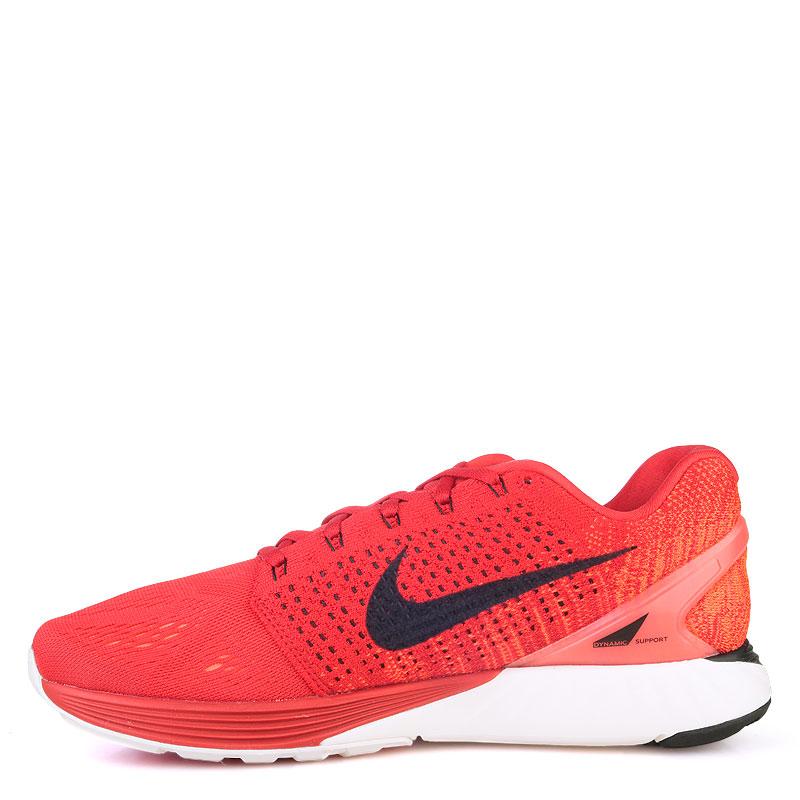 Купить мужские красные  кроссовки nike lunarglide 7 в магазинах Streetball изображение - 3 картинки