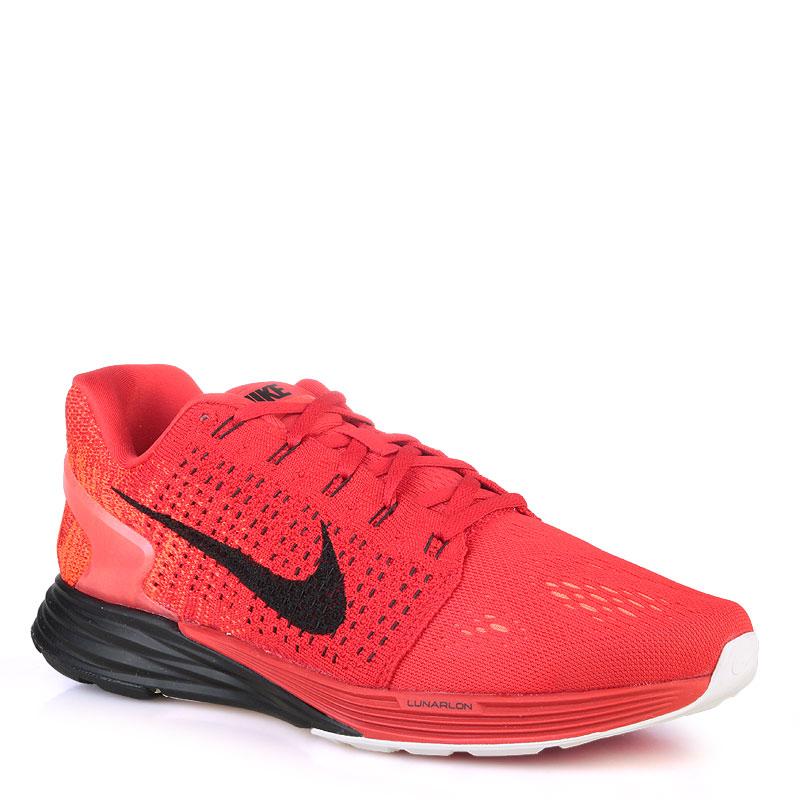 Купить мужские красные  кроссовки nike lunarglide 7 в магазинах Streetball изображение - 1 картинки