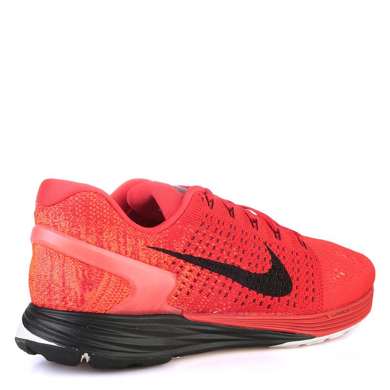 Купить мужские красные  кроссовки nike lunarglide 7 в магазинах Streetball изображение - 2 картинки