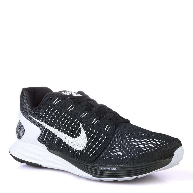 Кроссовки Nike Lunarglide 7Кроссовки lifestyle<br>текстиль,резина<br><br>Цвет: Черный<br>Размеры US: 11<br>Пол: Мужской