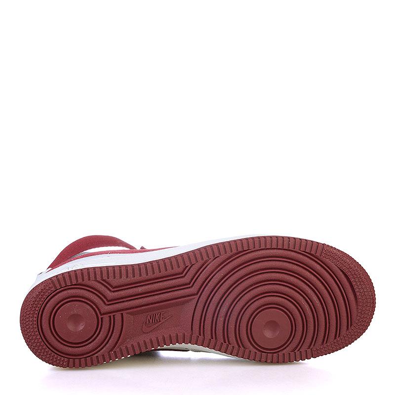 Купить мужские белые, бордовые  кроссовки nike air force 1 hi retro qs в магазинах Streetball изображение - 4 картинки