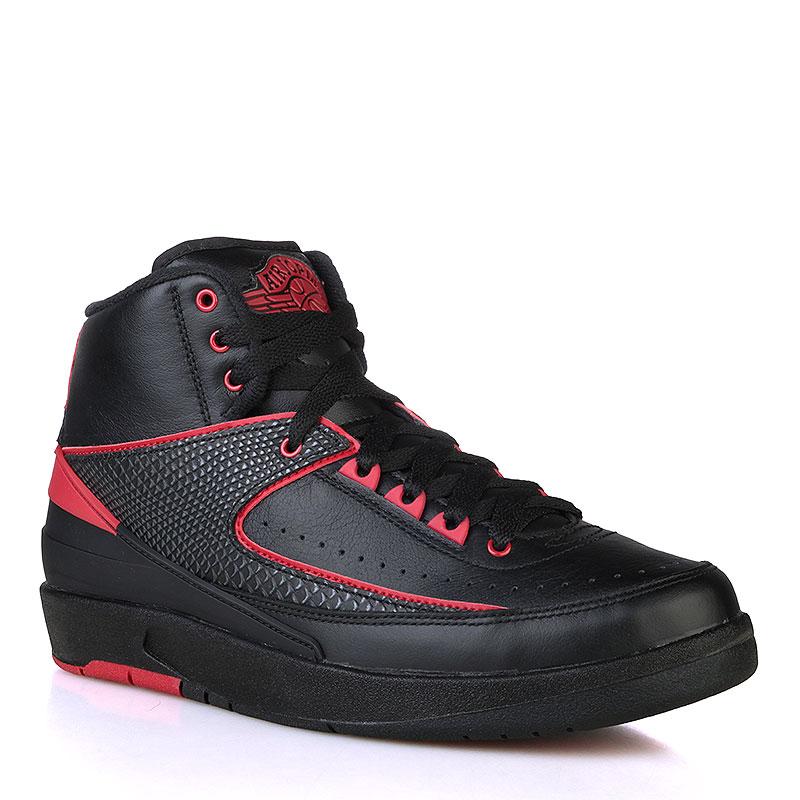 Купить мужские черные, красные  кроссовки air jordan ii retro в магазинах Streetball изображение - 1 картинки